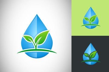 water plant nature ecology vector design