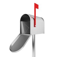 Silver mailbox