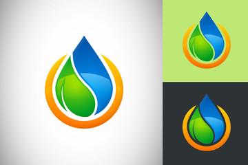 water leaf ecology energy vector design