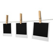 Photos hanging on a rope