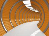 Fototapeta Przestrzenne - Modern long corridor © FreshPaint