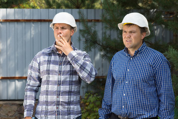 Middle Age Building Planners at Construction Site