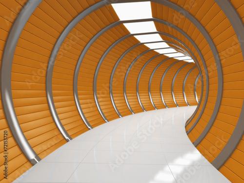 Modern long corridor - 72153720