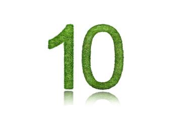 10 green symbol