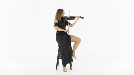 Girl playing the fiddle