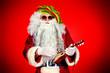 Leinwanddruck Bild - santa play