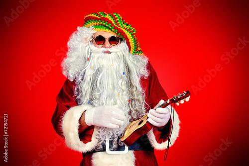 Leinwanddruck Bild santa play