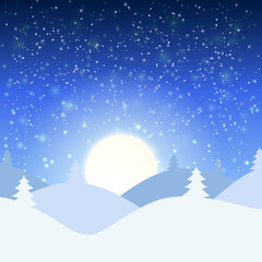 Vector illustration of winter landscape