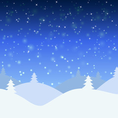 Vector illustration of winter landscape