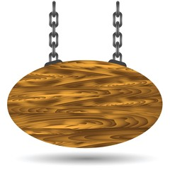 wood board and chain