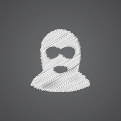 offender sketch logo doodle icon.