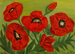 Poppies, oil painting