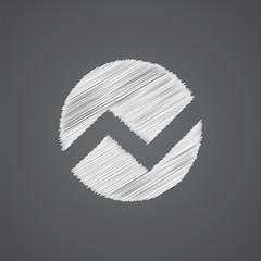 circle diagram sketch logo doodle icon.