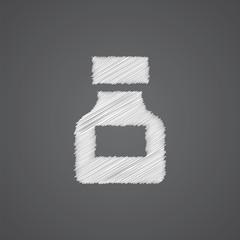 drugs sketch logo doodle icon.