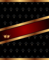 background with golden luxury crown