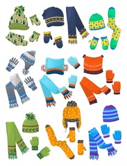 Hats, scarves and mittens for little boys