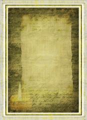 Urkunde Alte Schrift auf Leinen