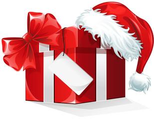 Red present christmas hat loop