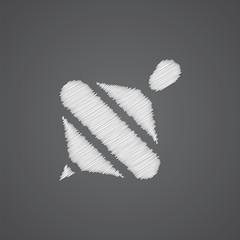 whirligig sketch logo doodle icon.