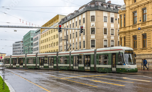 Modern tram on a street of Augsburg - Germany, Bavaria - 72157589