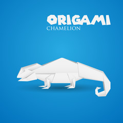 origami paper chamelion