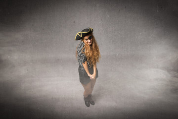 timid pirate girl