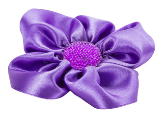 purple bow isolated on the white background