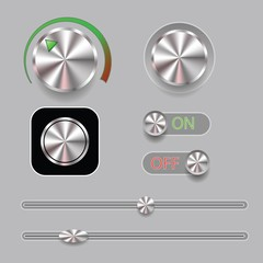 set of music button
