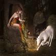 Elf and unicorn