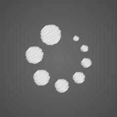 loading sketch logo doodle icon.