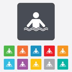 Swimming sign icon. Pool swim symbol.