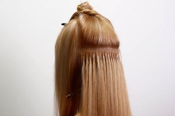 hair set in progress