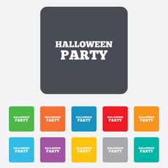 Halloween pumpkin sign icon. Halloween party.