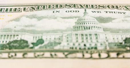Back side of dollar