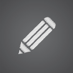 pencil sketch logo doodle icon.