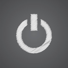 power on sketch logo doodle icon.