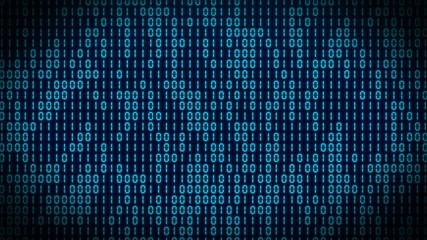 VID - binary code - blue