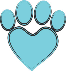 blue pet paw