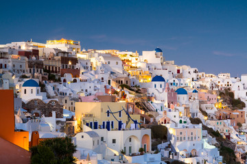 Village of Oia at twilight