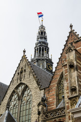 Details of Old church in Amsterdam, The Netherlands