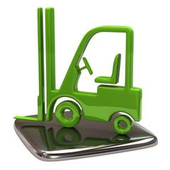 Green lift truck