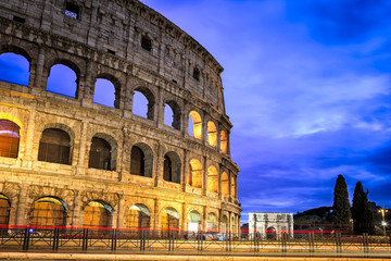 Famous Colosseum Structure in Rome Italy