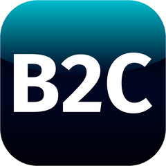 blue B2C icon