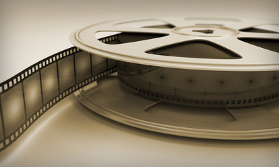 Retro reel film