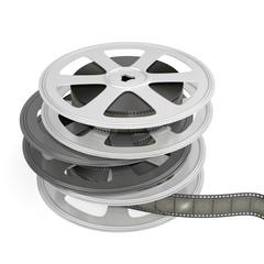 Reels of film.