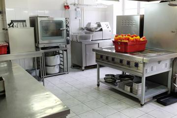 interior of a kitchen in a restaurant