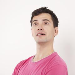 Surprised Young Man Portrait.