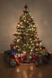 Obrazy na płótnie, fototapety, zdjęcia, fotoobrazy drukowane : illuminated christmas tree with presents