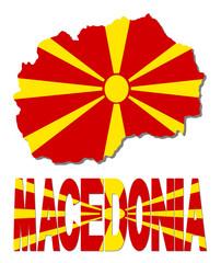 Macedonia map flag and text illustration