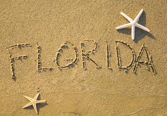Florida sand writing